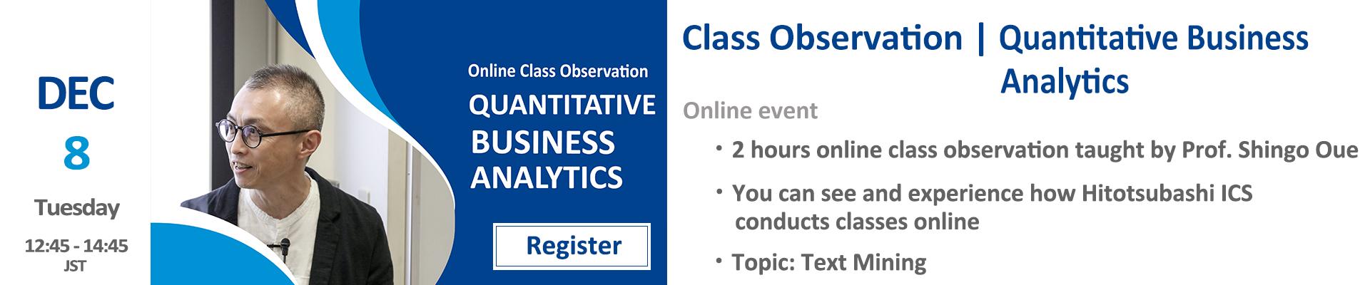 class observation qba2